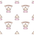 baby girl with love Mommy and Daddy posters vector image