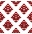 Floral seamless pattern with dark red flowers on vector image