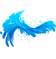 Water splash on white background vector image vector image