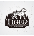 Bengal Tiger in forest logo Mascot shirt vector image