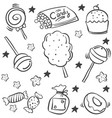 various candy sketch of doodle style vector image