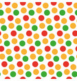 kids seamless pattern with polka dots bright vector image