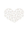 Heart Made in Women Shoes vector image vector image