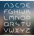 Elegant light font vector image