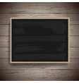 blank vintage chalk board background vector image