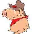 cute pig farm animal cartoon vector image