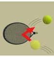 kick the ball vector image