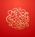 Merry Christmas Type 2 vector image