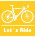 Minimalistic bike poster Let s Ride Black road vector image
