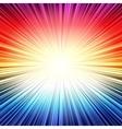 Rainbow radial stripes burst explosion background vector image