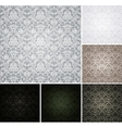 Seamless Wallpaper Pattern set of six colors vector image