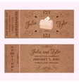 Ticket for Wedding Invitation with wedding chest vector image