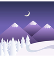 winter background with mountains at night vector image