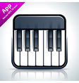 Piano musical app icon vector image