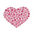 heart gear vector image