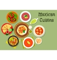 Mexican cuisine restaurant dinner icon vector image