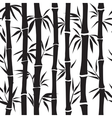 Bamboo pattern silhouette vector image