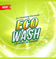 Detergent packaging concept design showing eco vector image