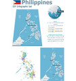 Philippines maps with markers vector image vector image