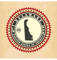 Vintage label-sticker cards of Delaware vector image