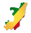 congo africa map flag vector image vector image