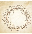 Olive label vector image vector image