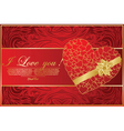 abstract card with heart vector image vector image