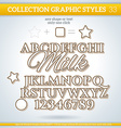 Milk Graphic Styles for Design use for decor text vector image