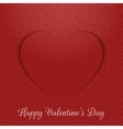 Valentines Day realistic greeting Card paper Heart vector image