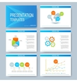 Blue set of templates for multipurpose vector image