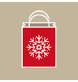 Christmas Holiday Gift Bag vector image