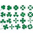 Green clover collection vector image