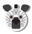 isolated zebra face vector image