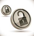 Lock 3d icon vector image