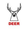 logo deer vector image