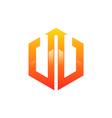 polygon business finance logo vector image