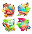 set of cartoon badges vector image