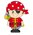 Child dressed as pirate vector image
