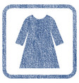 woman dress fabric textured icon vector image
