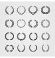 Set of wreathswheat circular laurel heraldry vector image