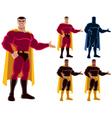 Superhero Presenting vector image