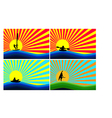 Background with water sports vector image