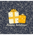 Christmas background with curls vector image