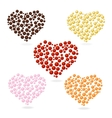 Heart bubbles Valentines Day set vector image