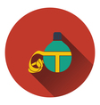 Icon of touristic flask vector image