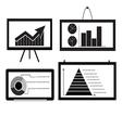 Minimal Cart bar Chart Arrow Chart Pie Chart vector image