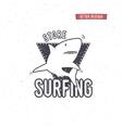 Vintage Surfing Store Badge design Surf gear shop vector image