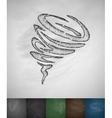 wind funnel icon vector image