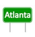 Atlanta green road sign vector image