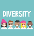 diversity sign a group of multinational people vector image